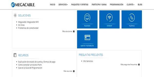 Contacto Megacable por internet