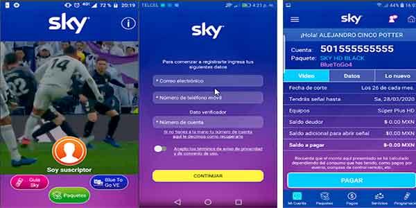 pagar recibo sky con App SKY
