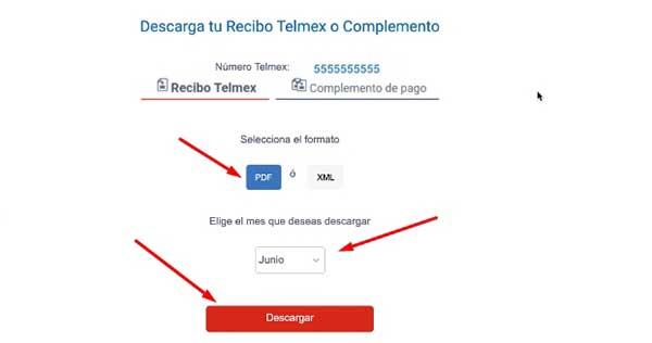 descargar recibo telmex pdf