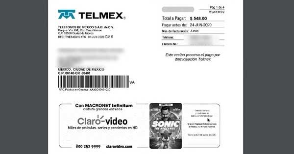 imprimir recibo telmex